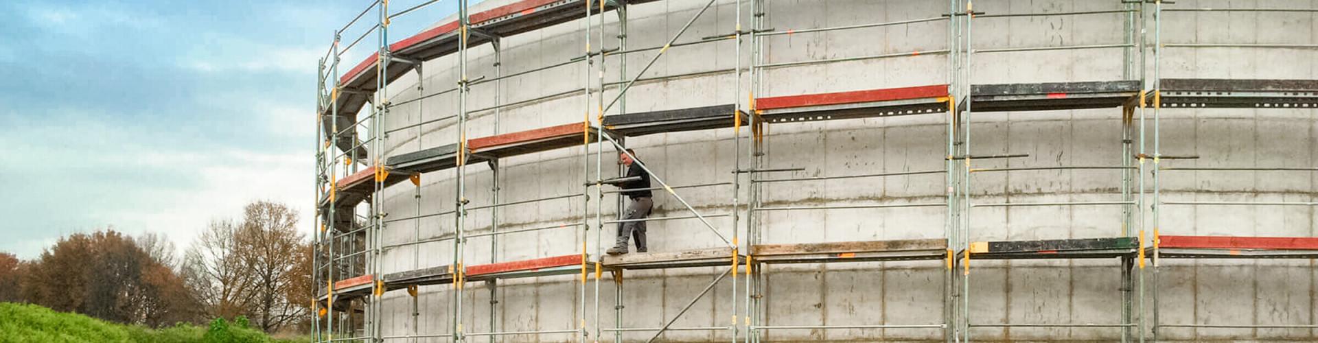 Titelbild Fassadengerüst Gerüst bei Fassaden Gerüstbau Peters